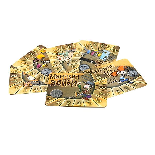 Набор счетчиков уровней «Манчкин Зомби» желтый