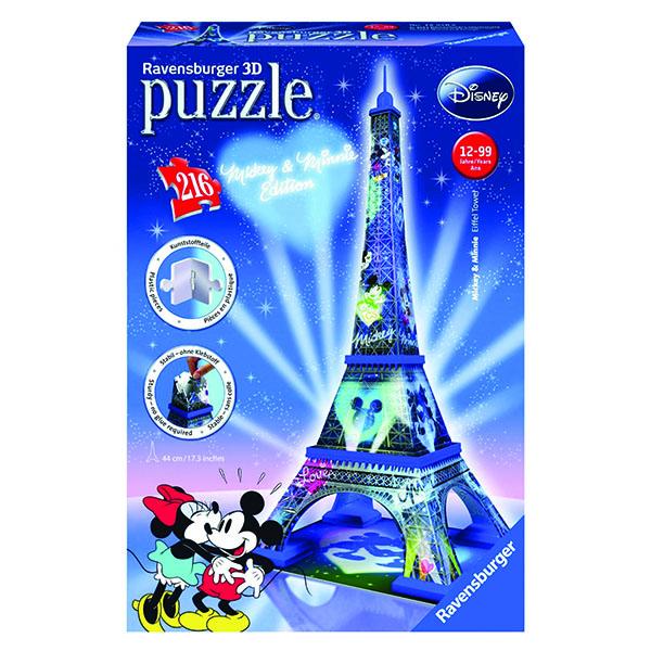 3D пазли Міккі і Мінні. Ейфелева вежа 216 ч (Mikki & Minnie. Eiffel Tower) 3D пазли