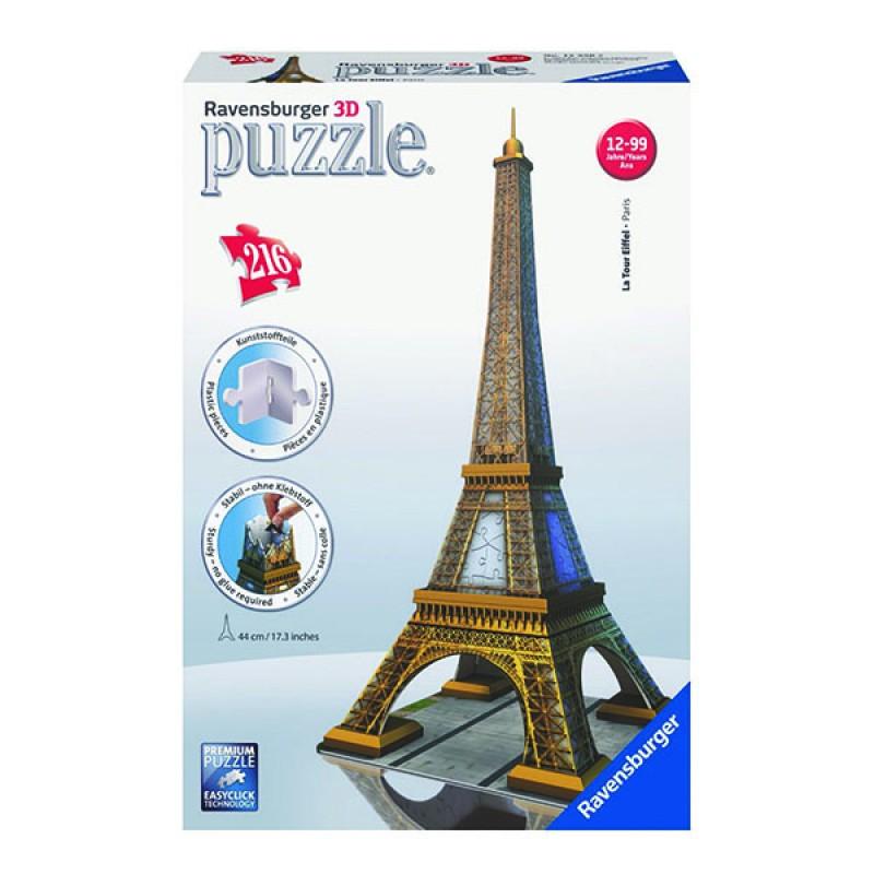 3D пазли Ейфелева вежа 216 ч (Eiffel Tower) 3D пазли