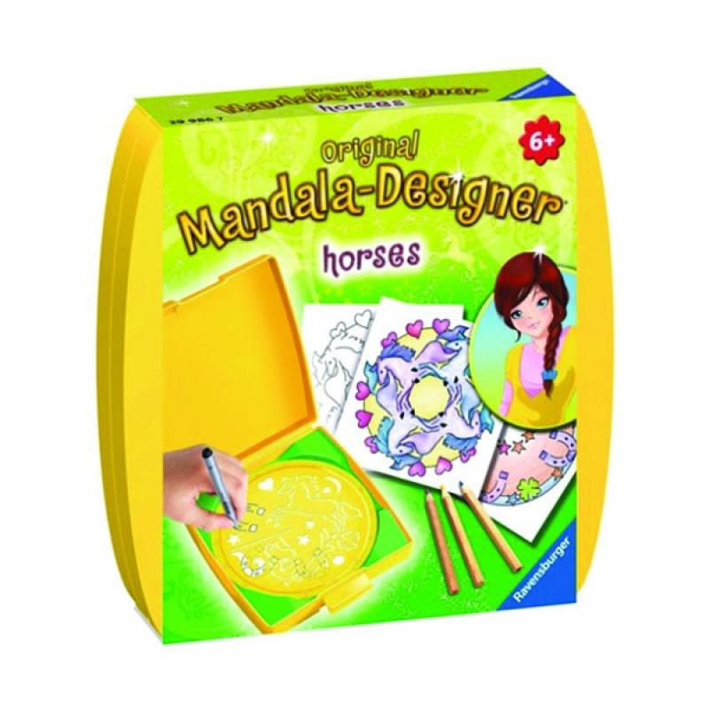 Набір для пазлів Міні Мандала. Коники (Mini Mandala Horses) Набір для рукоділля