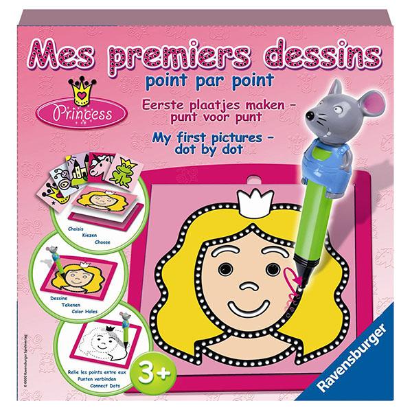 Набір для пазлів Принцеса (Mes premi.dessins Princess) Малювання по точках