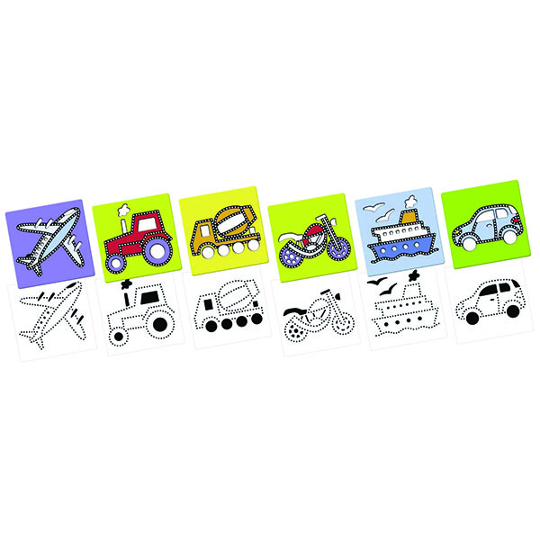 Набір для пазлів Транспорт (Mes premi.dessins Transport) Малювання по точках