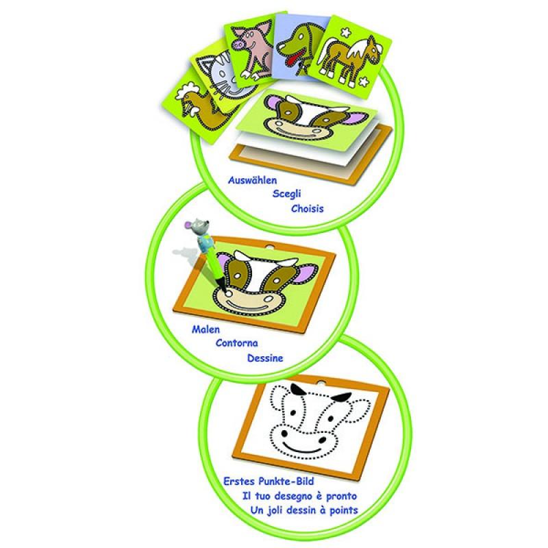 Набор для пазлов Ферма (Mes premi.dessins Farm) Рисование по точкам