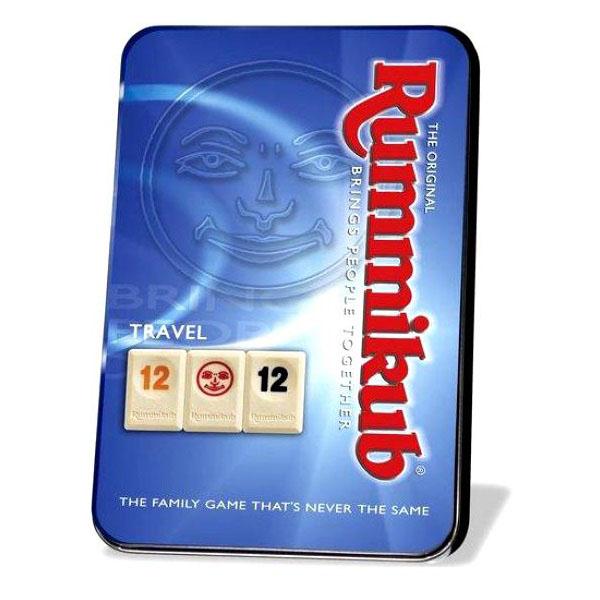 Rummikub дорожная игра в металлической коробке