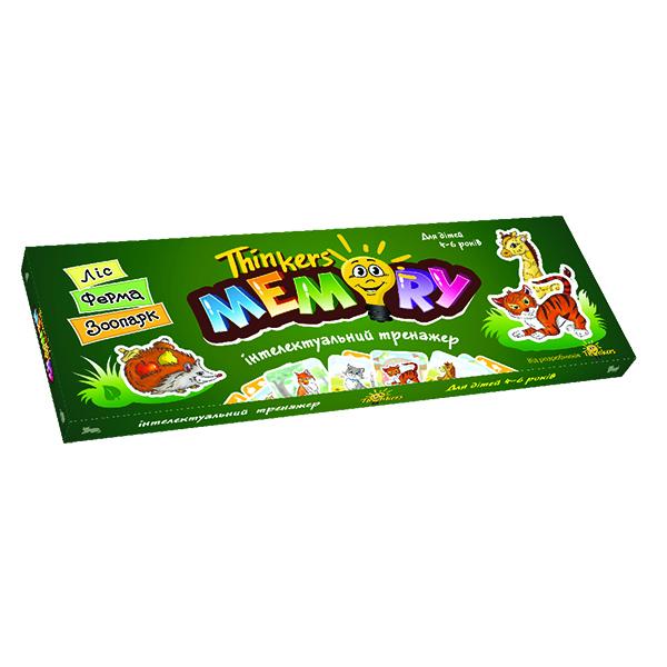 Thinkers Інтелектуальна гра для дітей 4-6 років Меморі (укр.)
