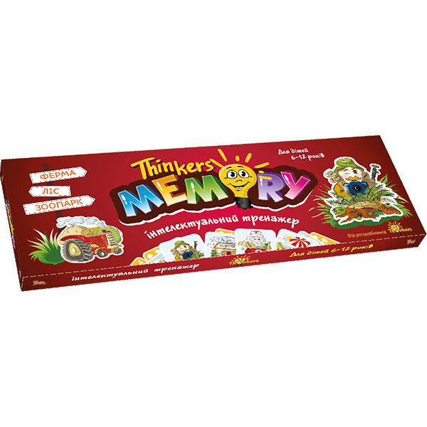 Thinkers Інтелектуальна гра для дітей 6-12 років Меморі (укр.)